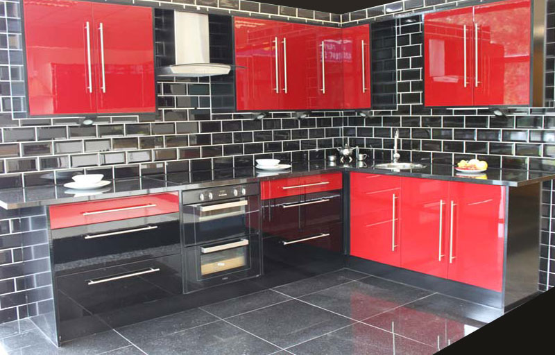 Kitchens for sale wigan kitchens for sale in wigan and for Red gloss kitchen units